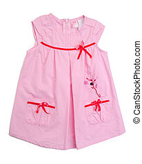 kids blouse and skirt on background