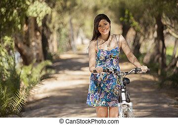 Ready to ride my bike
