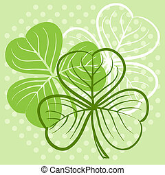 Three leaf clover illustration for St. Patrick's day