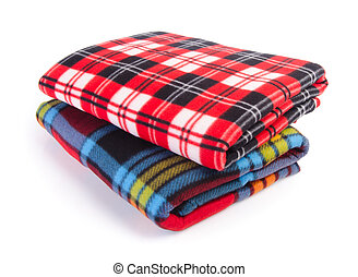 blanket, Soft warm blanket on background - blanket, Soft...