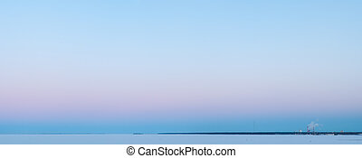 blue and pink sunrise