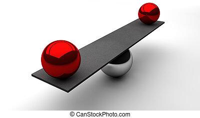 Balanced distribution - Conceptional image of a balanced...