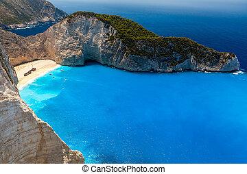 Zakynthos - Amazing beach Navagio in Zakynthos, Greece