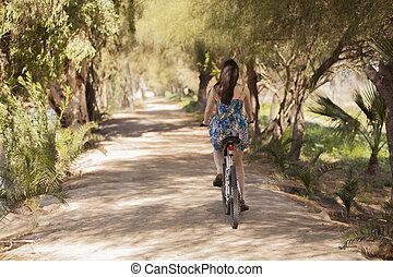 Leaving on my bike