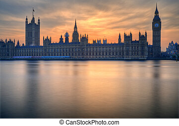 Big Ben and Houses of Parliament London during Winter...