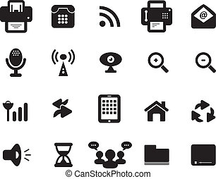 Media and Communication Icon Black and White
