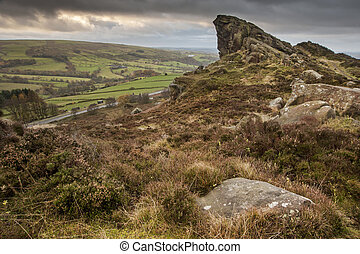 Ramshaw Rocks in Peak District National Park England