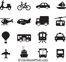 Transportation Icon Black and White