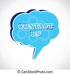 contact us message bubble