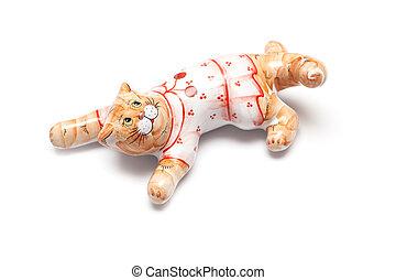 Cat porcelain