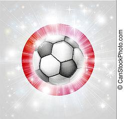 Japan soccer flag - Flag of Japan soccer background with...