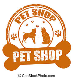 Pet shop stamp - Pet shop grunge rubber stamp on white,...