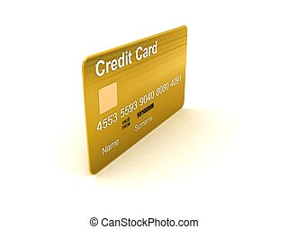 side view of credit card
