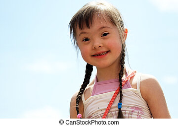 Portrait of beautiful young girl.