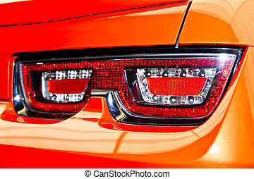Rear Light Of A Red Sports Car