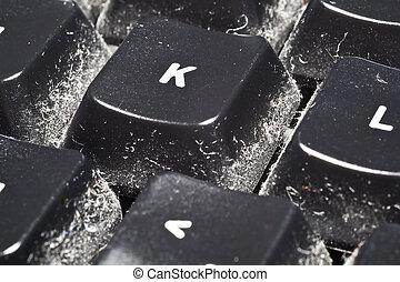clavier, poussière