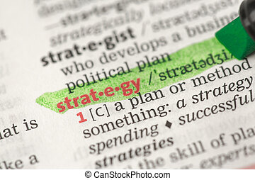Highlighted definition of strategy