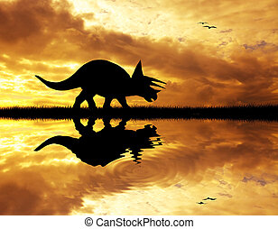 Dinosaurs silhouette - Prehistoric dinosaurs