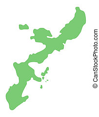 map of Okinawa prefecture, Japan