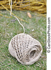 ball of twine on the grass