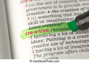 Creative definition highlighted in