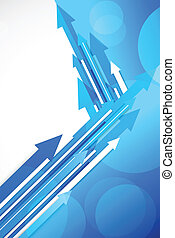 Blue background with arrows