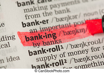 Banking definition highlighted in red