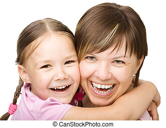 Portrait of a happy mother with her daughter