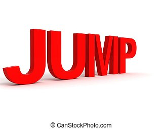 rendered alphabets of jump