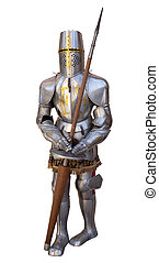Knights armour - Photo of an ancient Knights armour isolated...
