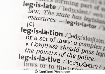 Legislation definition in the dictionary