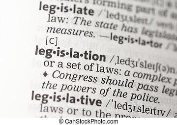 legislación, definición
