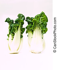 Bunch of Fresh baby bok choy, Brassica rapa chinensis,...
