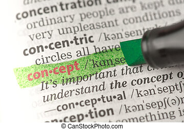 Concept definition highlighted in