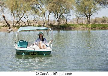 Having fun in the lake