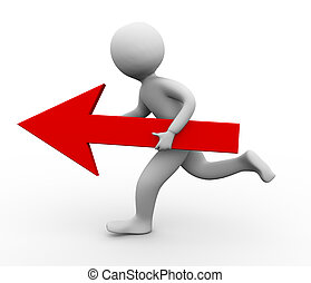 3d person running with arrow
