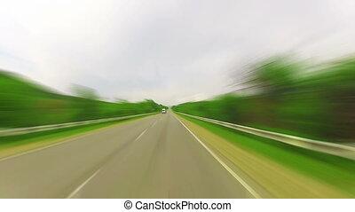 ride on a car