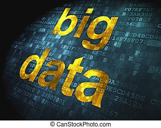 informação, concept:, grande, dados, digital,...