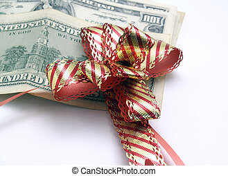 chignon for banknotes with gift - photography studio in...