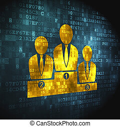 Business concept: Business Team on digital background -...