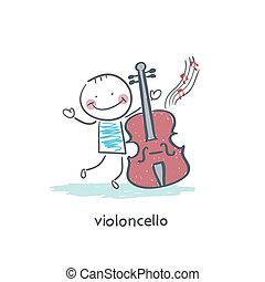 Man and cello