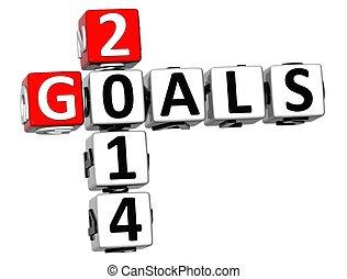 3D Goals 2014 Crossword