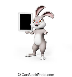 Easter bunny - 3d rendering of a cute easter bunny
