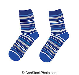 Cute socks - A vector illustration of cute striped socks