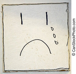 Sad Face - An abstract drawing of a sad face