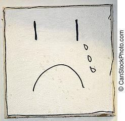 Sad Face - An abstract drawing of a sad face