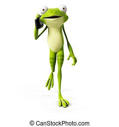 Funny frog - 3d rendered illustration of a funny frog