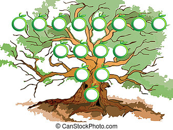 tree diagram. abstract graphics as a tree