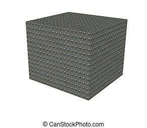 Solid strong box in 3D showing strength