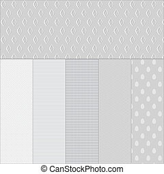 Set white paper textured backgrounds